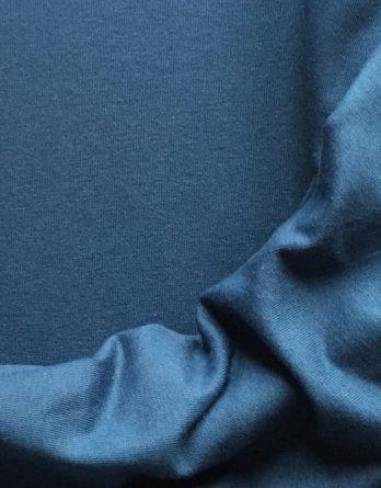 0,5m Bio Jersey Stoff indigo blau uni GOTS