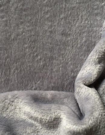 0,5m ultrakuscheliger Wellnessfleece hellgrau uni