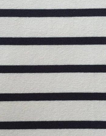 0,5m Blockstreifen Jersey - 2cm Streifen in weiß -  mit navy / dunkelblau gestreift - maritim - toll für Damen und Kinder