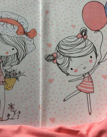 IMG 9287 IMG 9286 IMG 9281 Panel Jersey rosenblüte SP 1 348x445 - 1m Bio Jersey Panel Stoffpaket: Frühlingsmädchen Mädchen Blumen Luftballons Punkte Herzen rosenblüte GOTS Ökotex