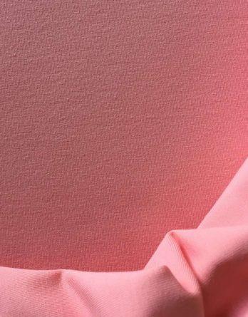 0,5m Baumwolljersey – rosenblüte rosa – uni einfärbig – Ökotex