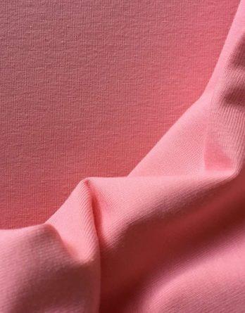 0,5m Baumwolljersey - rosenblüte rosa - uni einfärbig - Ökotex