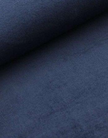 0,5m kuscheliger Wellnessfleece / Kuschelfleece navy marine dunkelblau uni