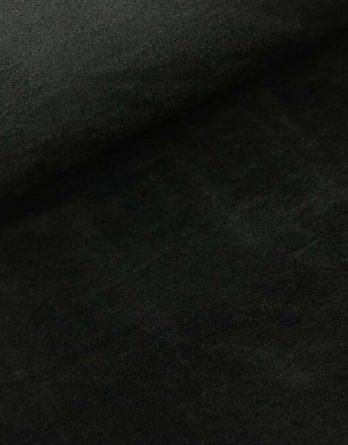 0,5m kuscheliger Wellnessfleece / Kuschelfleece schwarz uni