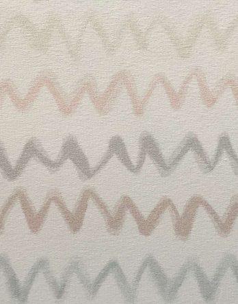0,5m Sommersweat French Terry - Kombistoff Panel Waldfreunde Winkel - 165cm breit - beige braun rosa weiß - Digital Ökotex
