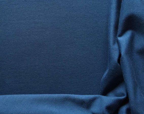 0,5m Baumwolljersey in dunklem jeansblau – wunderschönes dunkles denim blau – Kelly – uni / einfärbig – Ökotex