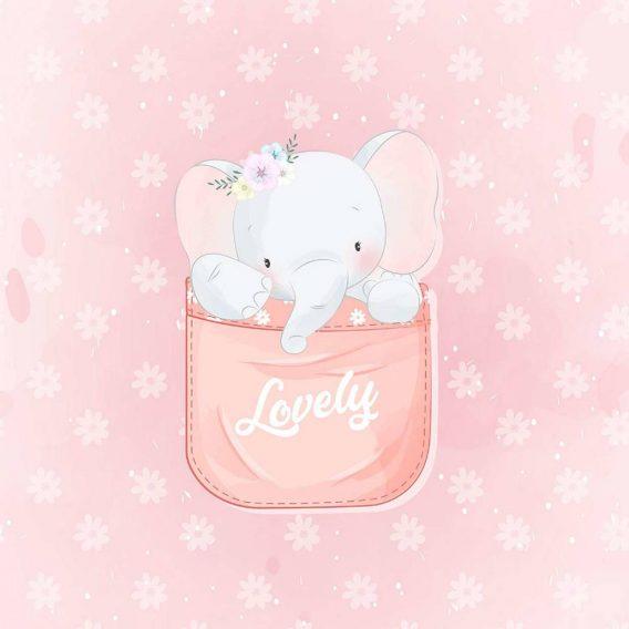 cGJrlSguxHqa1rgNOQFp 568x568 - 1 Sommersweat / French Terry Panel (40x50cm) - süßer Elefant in einer Tasse mit Blumen auf rosa - Digital - Ökotex