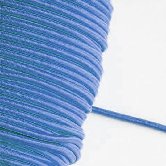 3 m Gummikordel in jeansblau – 3 mm breit