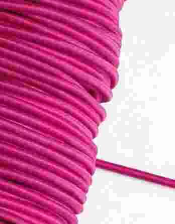 3 m Gummikordel in pink – 3 mm breit