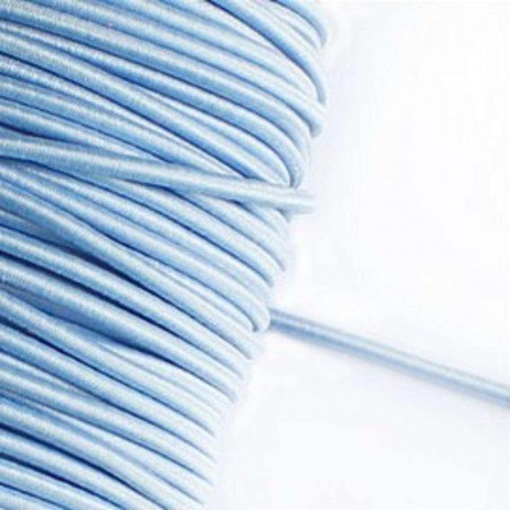 3 m Gummikordel in hellblau – 3 mm breit