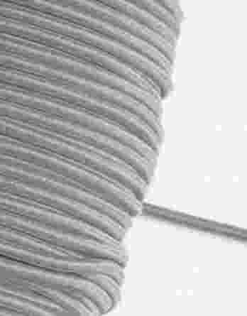 1 m Gummikordel in hellgrau – 3 mm breit