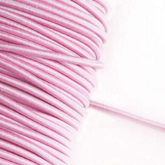 3 m Gummikordel in rosa – 3 mm breit