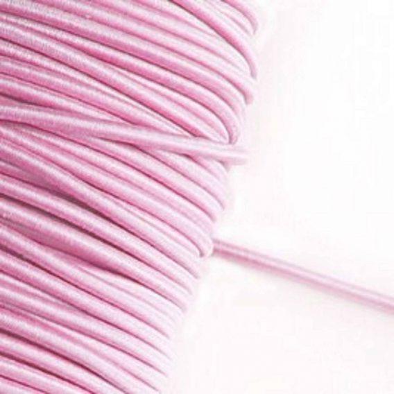1 m Gummikordel in rosa – 3 mm breit