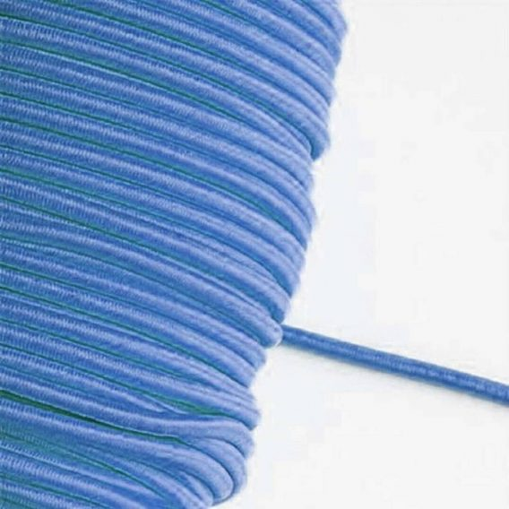 1 m Gummikordel in jeansblau – 3 mm breit