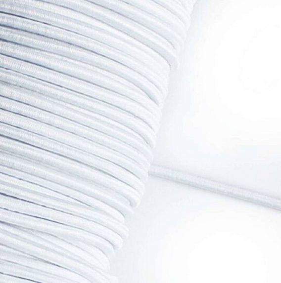 1 m Gummikordel in weiß – 3 mm breit