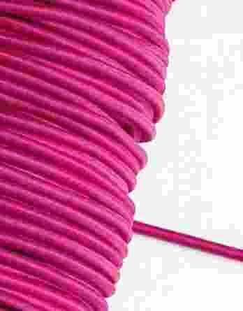 1 m Gummikordel in pink – 3 mm breit