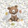 1 French Terry Panel mit süßem Bären – 40x50cm – Herbstliebe